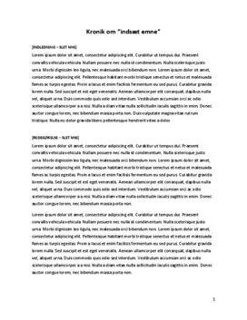 essay synopsis skabelon