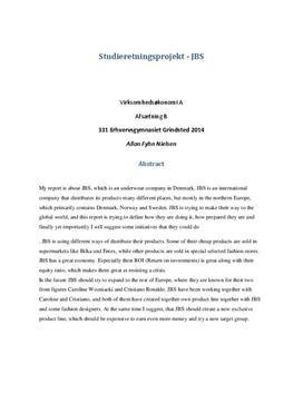 SOP: JBS, Logistik, markedsføring og økonomi