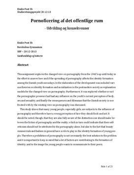 SRP: Pornoficering af det offentlige rum   Samfundsfag A og Historie A