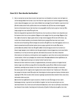 Case 12.1 Den danske banksektor