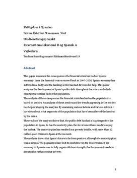 SOP om Finanskrisen i Spanien