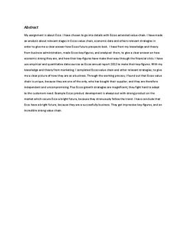 Ecco | Studieretningsprojekt (SRP)