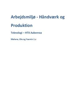 Arbejdsmiljø i Håndværk & Produktion