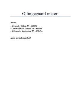 Analyse af reklamekampagne: Øllingegaard mejeri | Markedskommunikation C