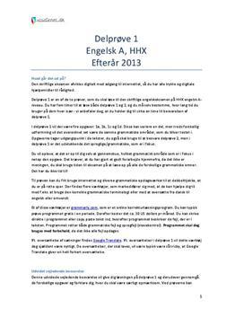 skriftlig eksamen engelsk a