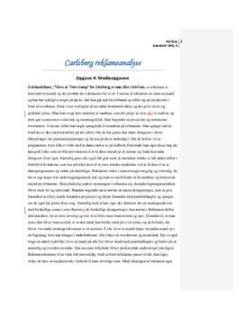 Analyse af reklame fra Carlsberg