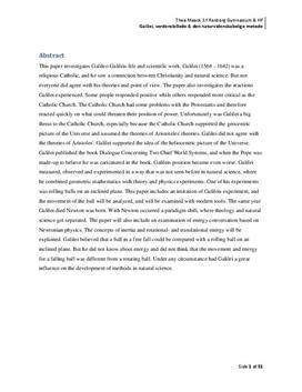 SRP: Galilei, nybrud og faldforsøg