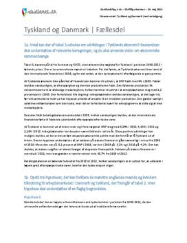 Tyskland og Danmark | Fællesdel | Samfundsfag A