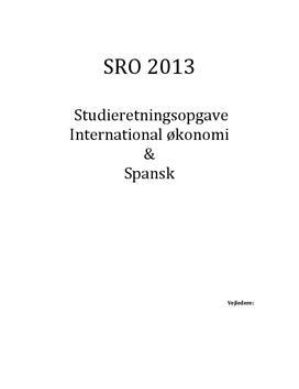 SRO: Konsekvenser af Spaniens økonimiske krise