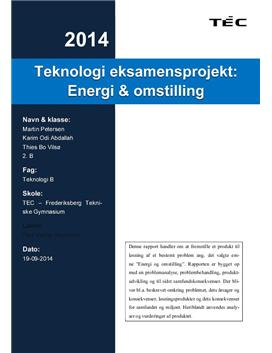 Energi & omstilling | Teknologi eksamen 2014