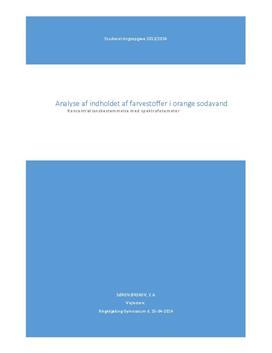 SRO: Analyse af farvestoffer i sodavand