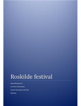 Afsætning A: Roskilde Festival