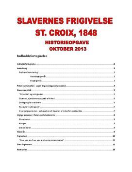 Slavernes frigivelse og Peter von Scholten