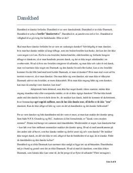 dansk essay om danskhed