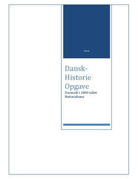 DHO om nationalisme | Analyse af En dansk kyst og Stensætning på øen Brandsø