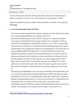 Tyrkiet - Makroøkonomisk analyse
