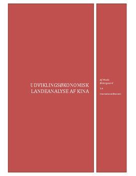 Kina - Udviklingsøkonomisk landeanalyse