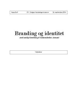 SRO om Armani og branding
