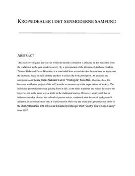 SRP: Kropsidealer i det senmoderne samfund