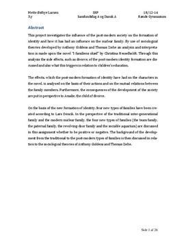srp identitetsdannelse i det senmoderne samfund dansk og samfundsfag