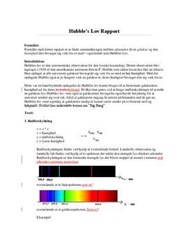 Hubble's lov | Fysikrapport