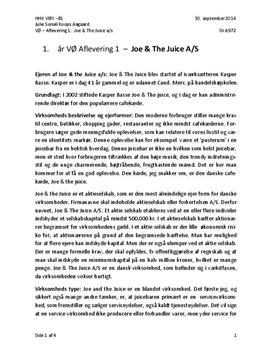 Analyse af Joe & the Juice | VØ A