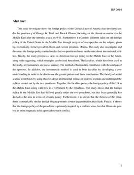 SRP: Amerikansk udenrigspolitik i Mellemøsten efter 9/11