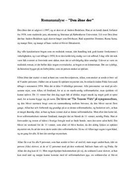 resume af døvens dør