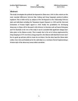 Kina og mulighed for demokrati | SRP