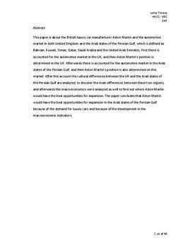 SOP: Aston Martin i Golfstaterne
