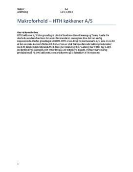 Case om HTH   Afsætning A