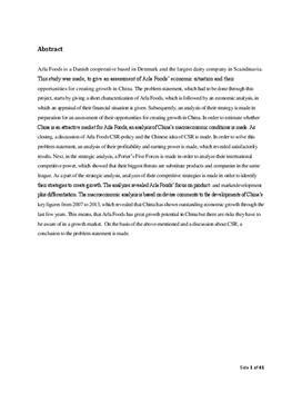 SOP: Arla Foods og det kinesiske marked