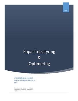 SOP: Kapacitetsstyring og optimering af en virksomheds omsætning