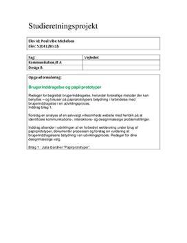 SOP: Brugerinddragelse og papirprototyper