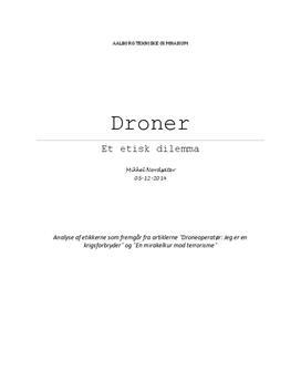 Etisk analyse: Droner | Idéhistorie B