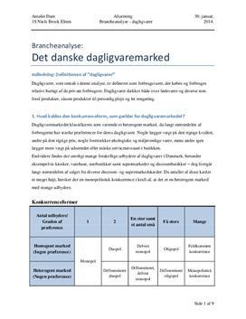 Brancheanalyse af det danske dagligvaremarked