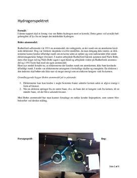 Hydrogenspektret | Fysik C