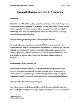 Danmarks kamp om retten til Nordpolen | Naturgeografi