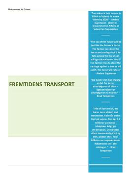 Fremtidens transport | Teknologi B