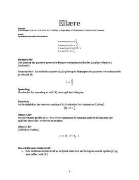 Noter til ellære | Fysik B