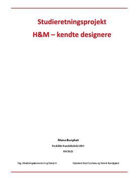 SOP om H&M og deres markedsføring med kendte designere