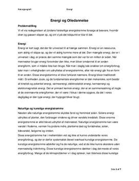 Energi, olie og gas   Naturgeografi