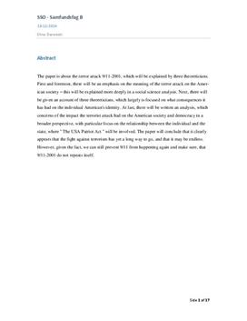 SSO om 11. september 2001 og USA Patriot Act