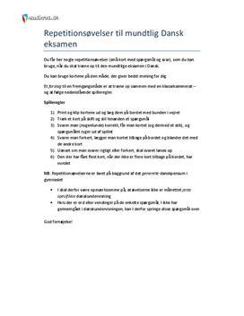 stx dansk eksamen mundtlig