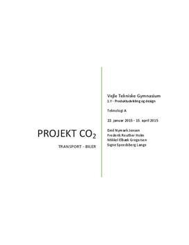 Projekt om CO₂ og biler i Teknologi