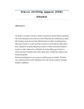 SSO om Alkohol | Kemi B