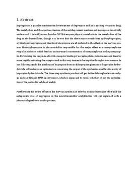 Kemisk syntese af bupropion | Teknikfag