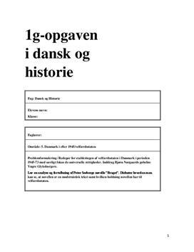 """DHO om etableringen af velfærdsstaten 1945-73 og analyse af """"Braget"""""""