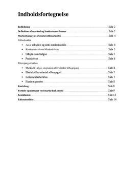 SRO om marked og konkurrenceformer | Samfundsfag A og Erhvervsøkonomi C