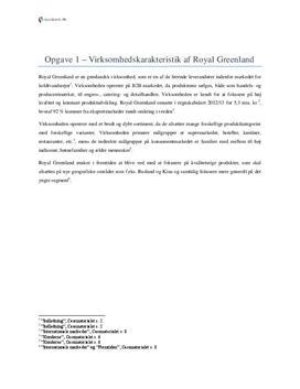Royal Greenland | Eksamen maj 2014
